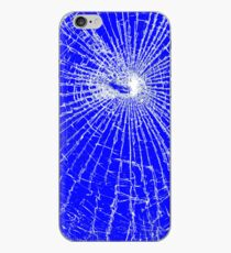 Broken Glass 2 iPhone Blue iPhone Case