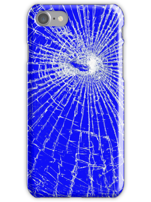 Broken Glass 2 iPhone Blue by Brian Carson