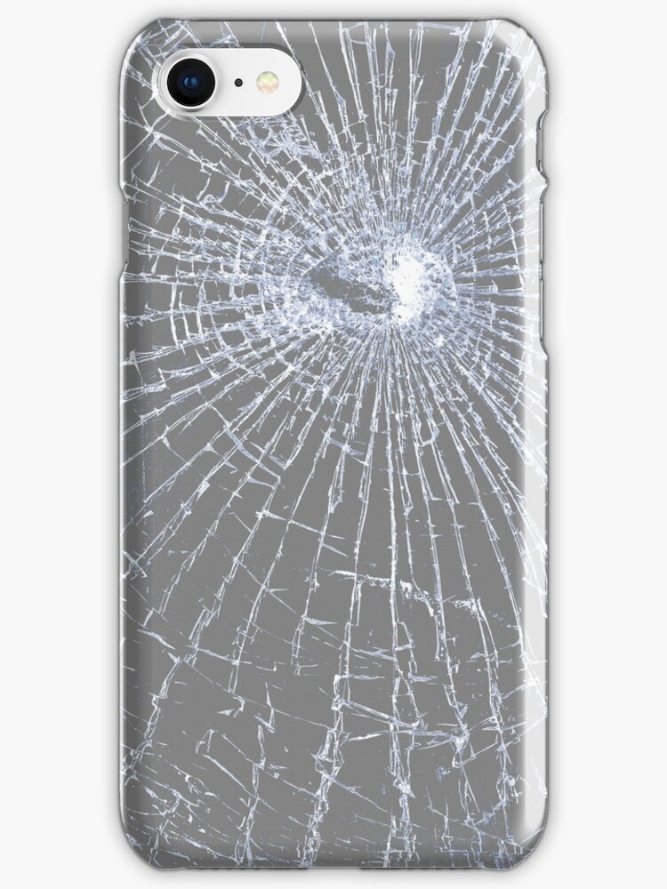 Broken Glass 2 iPhone Gray by Brian Carson