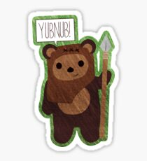 Cute Ewok! YUBNUB!! Star Wars Sticker