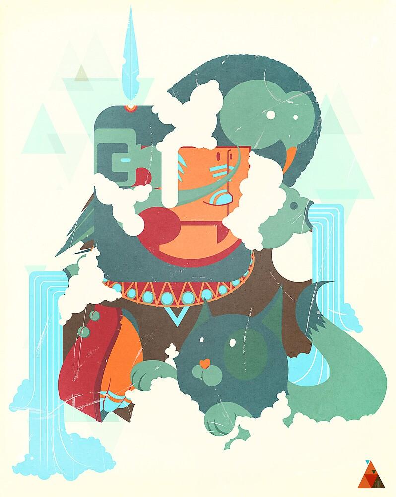 mayan print by SenPowell