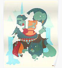 mayan print Poster