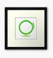 eco label Framed Print