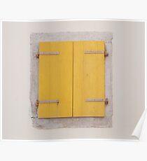 Yellow Shutters in Piran Poster