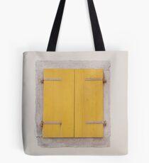Yellow Shutters in Piran Tote Bag