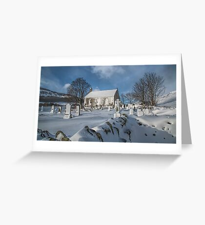 Winter in the Churchyard. Greeting Card