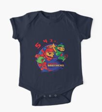 super bomber bros. - mario bomberman mashup One Piece - Short Sleeve