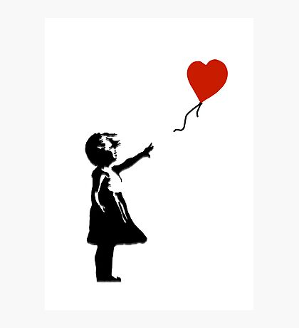 Girl with Balloons Photographic Print