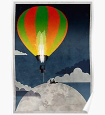 Picnic in a Balloon on the Moon Poster