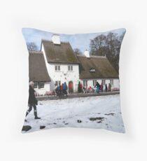 Bakken / Deer Garden Throw Pillow