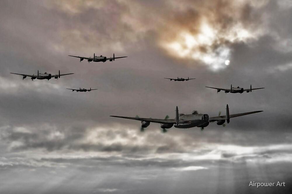 Lancaster Raid by Airpower Art