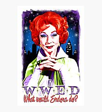 What would Endora? Bewitched. Agnes Moorehead. Samantha mother Photographic Print