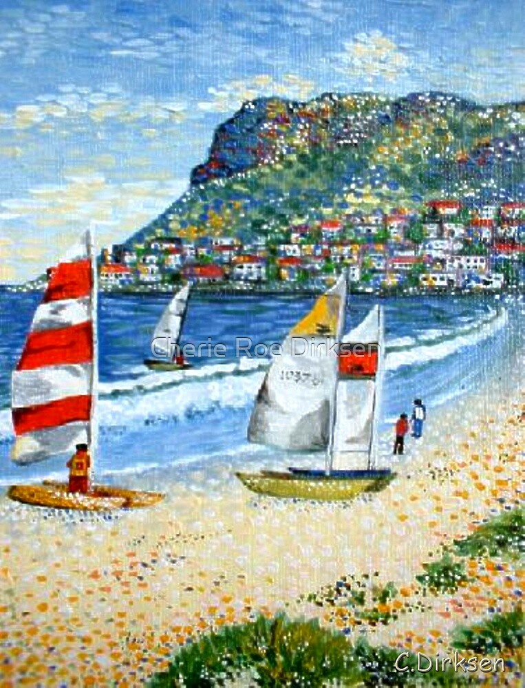 'Summertime Fun' - Fish Hoek Beach, Cape Town by Cherie Roe Dirksen