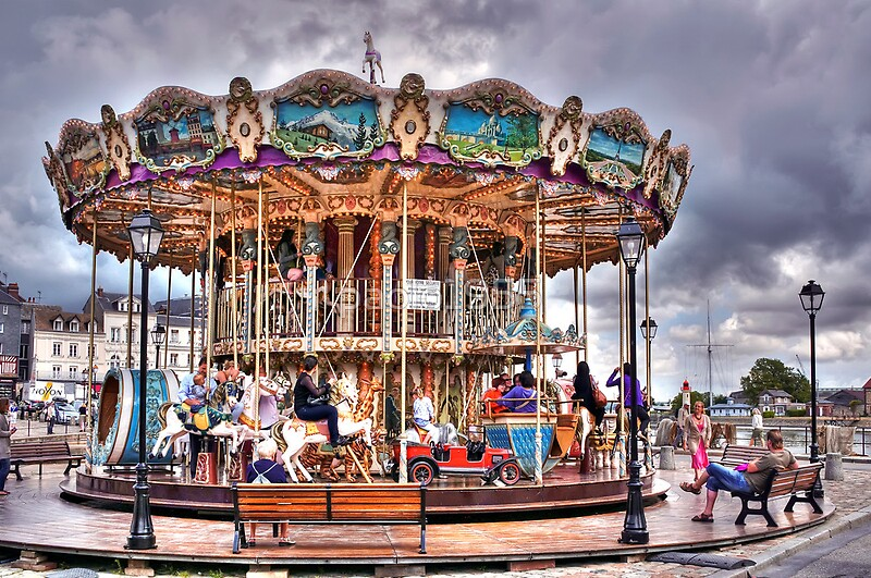 Quot Merry Go Round In Honfleur France Quot By Paolo1955 Redbubble