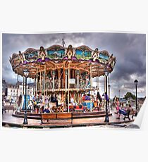 Merry-go-round in Honfleur - France Poster