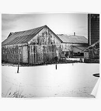 Wisconsin Winter Farm  Poster