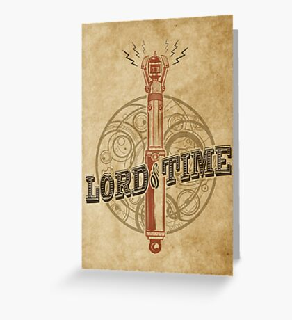 Steampunk Sonic Screwdriver Greeting Card
