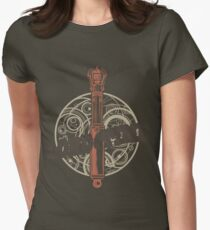 Steampunk Sonic Screwdriver Womens Fitted T-Shirt