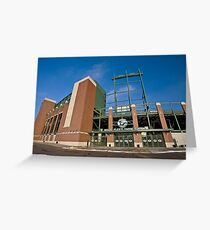 Lambeau Field Green Bay Wisconsin Greeting Card