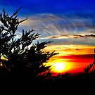 Sun setting over Pacifica CA  by jimfitz