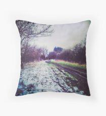 Snow making Mud Throw Pillow