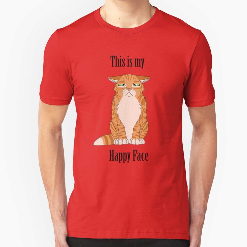 Happy Face - Golden Tabby Cat Slim Fit T-Shirt