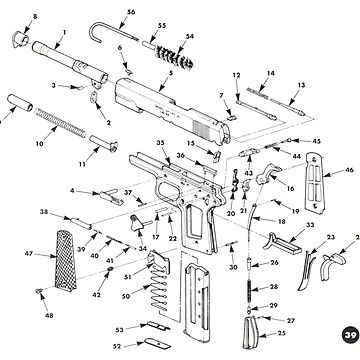 M1911 Pistol Diagram