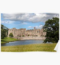 Raby Castle View from across the lake Poster