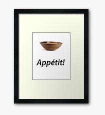 Bowl Appétit! Framed Print