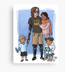 Skywalker Family Canvas Print