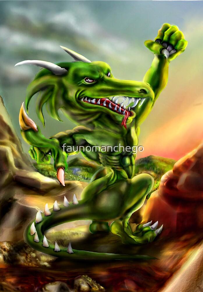 The human dragon by faunomanchego