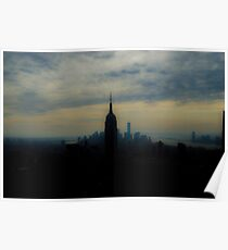 NYC skyline with Empire State Building Poster