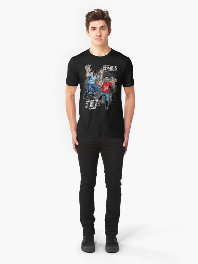 Alternate view of Metal ZOMBIE Jesus Slim Fit T-Shirt