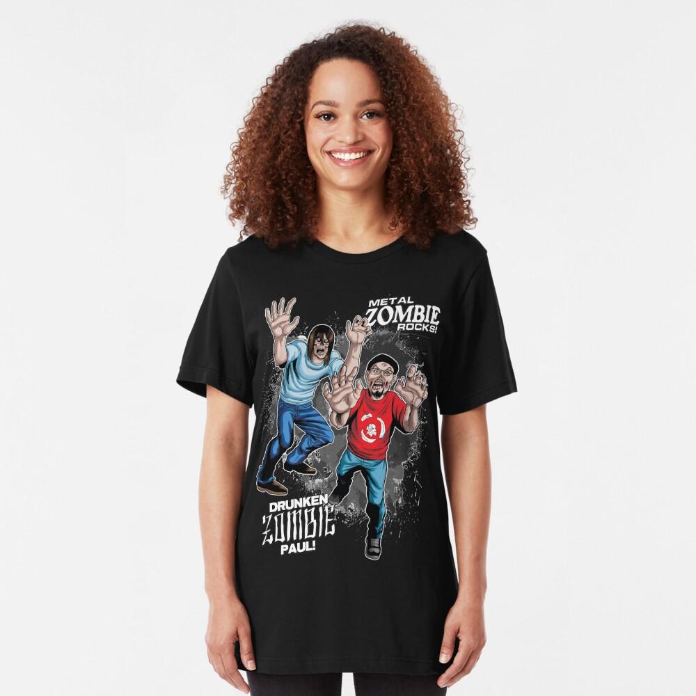 Metal ZOMBIE Jesus Slim Fit T-Shirt
