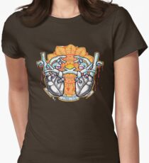 two hearts connection, psychedelic sci-fi Women's Fitted T-Shirt