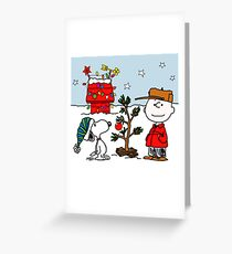 SNOOPY CHARLIE BROWN CHRISTMAS Greeting Card