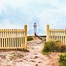 Port Fairy Lighthouse  (GO2) by Ray Warren