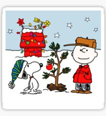 SNOOPY CHARLIE BROWN CHRISTMAS Sticker