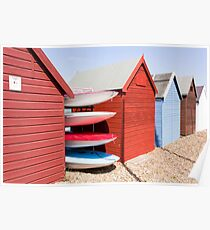 Beach Huts - Herne Bay Poster