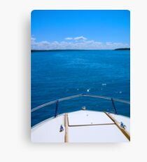 Boating, Torch Lake, Michigan Canvas Print