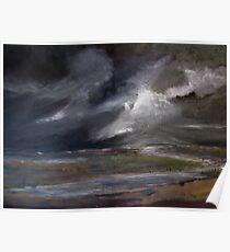 Storm over Norfolk coast Poster