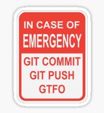 Git Emergency Sticker