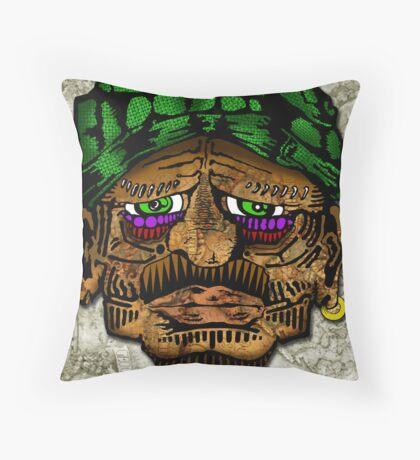 Old Bucanner  Throw Pillow