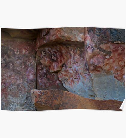 cueva de las manos (cave of hands) Poster