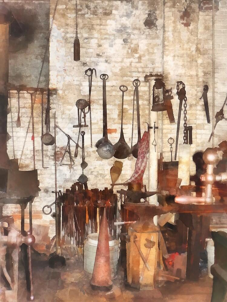 Hand Tools in Machine Shop by Susan Savad