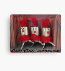 Can-can dancers Canvas Print