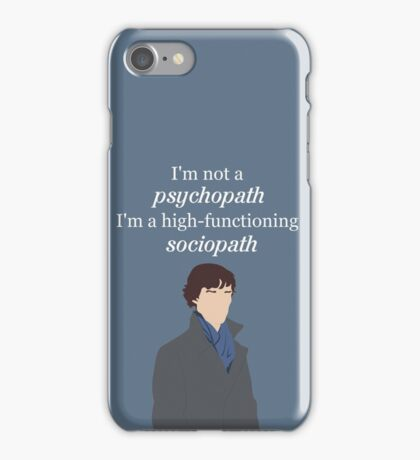 Sherlock BBC - Sociopath Quote iPhone Case/Skin