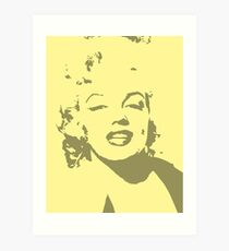 Marilyn Pop Art Yellow Art Print