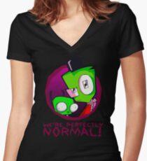 Invader Zim Gir Alien Women's Fitted V-Neck T-Shirt