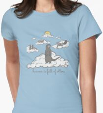 heaven is full of otters! Women's Fitted T-Shirt